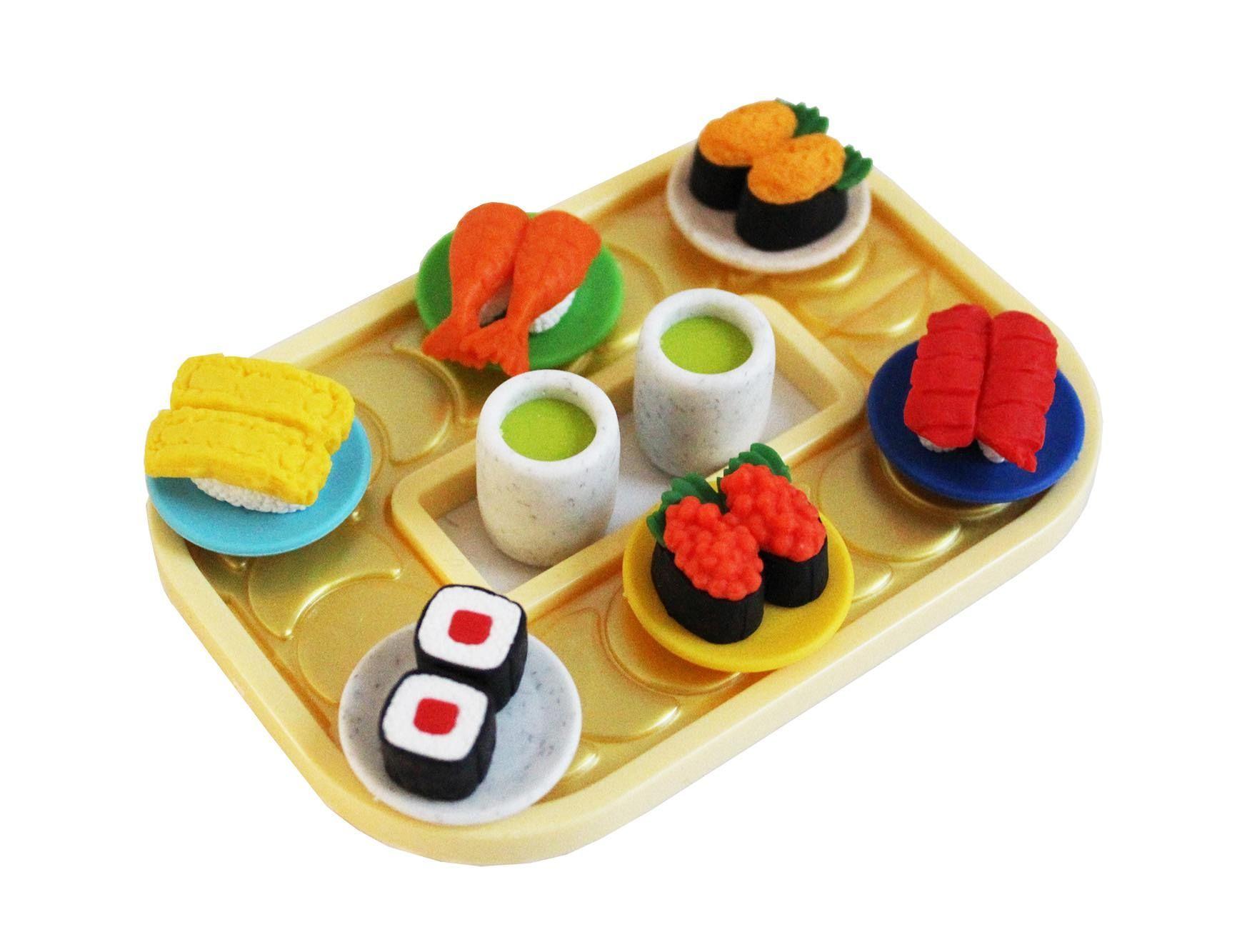 Sushi Eraser Set