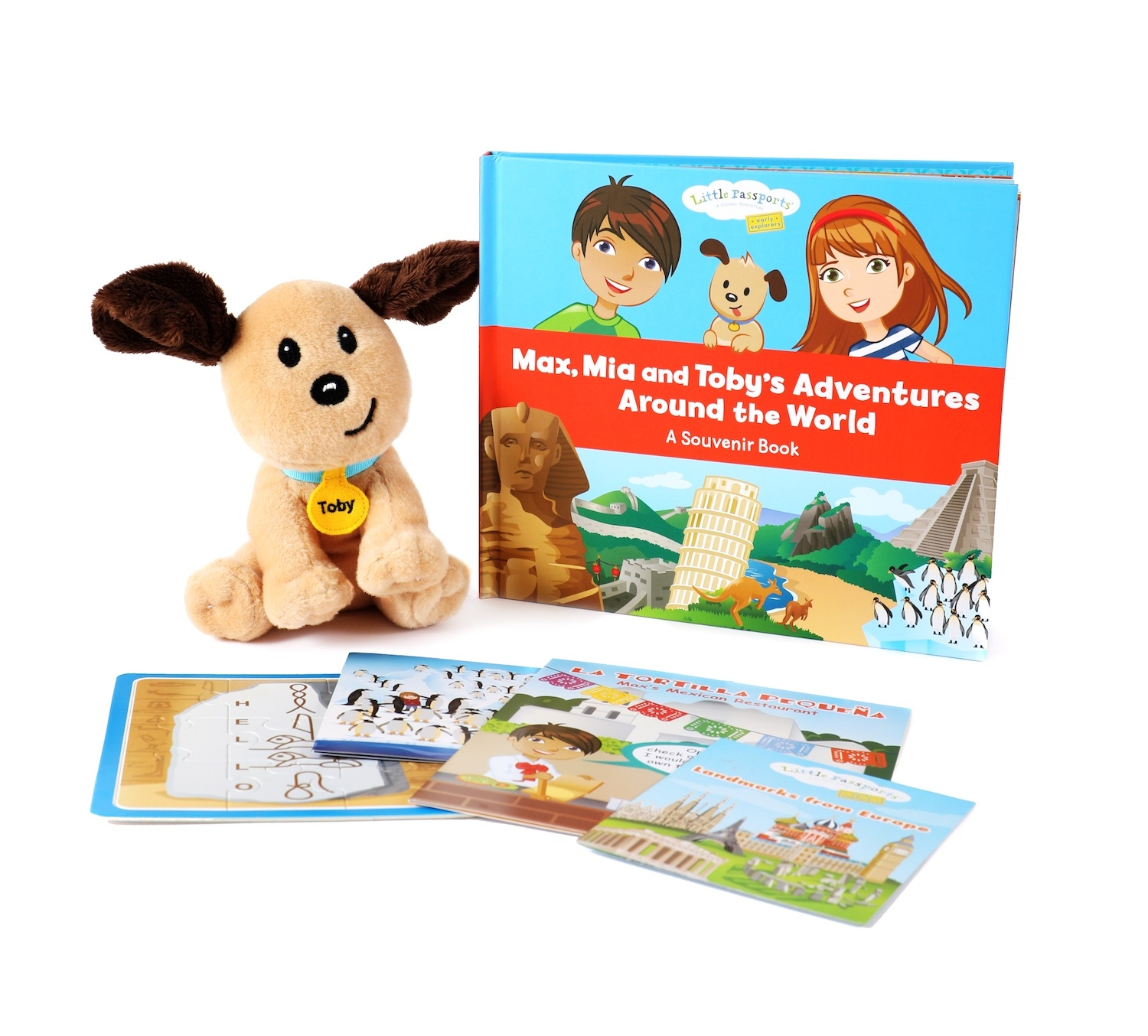 """Alternate Souvenir Picture Book with Small 6"""" Toby Plush image 0"""