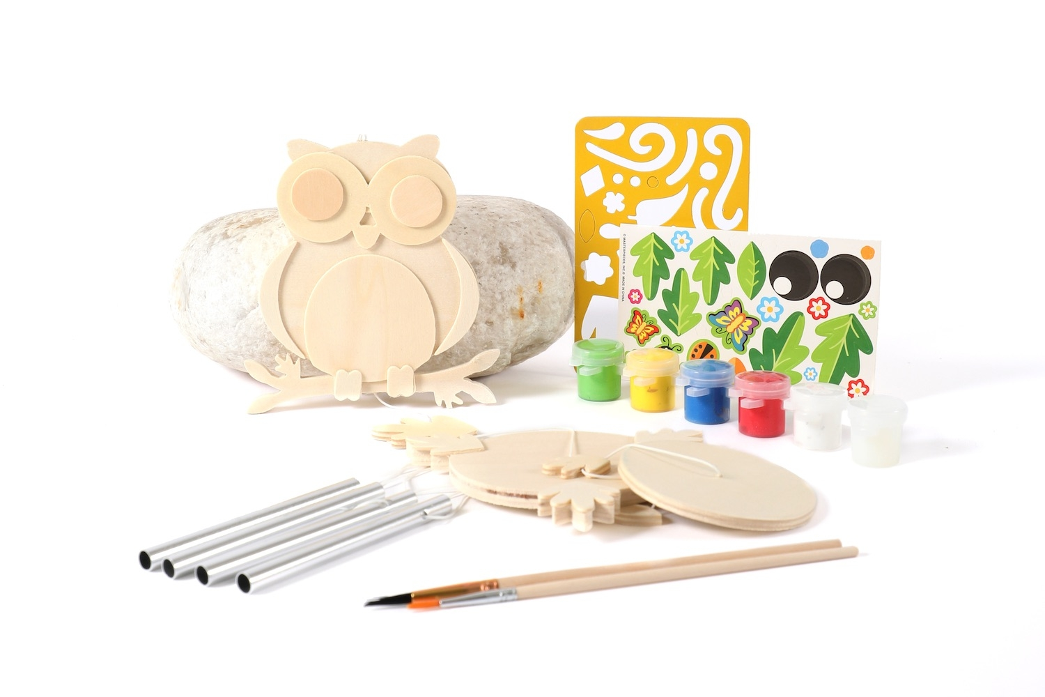 Alternate Paint Your Own Owl Wind Chime Kit image 0