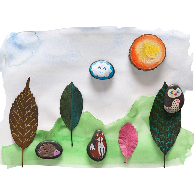 Alternate Rock & Leaf Painting Kit image 2