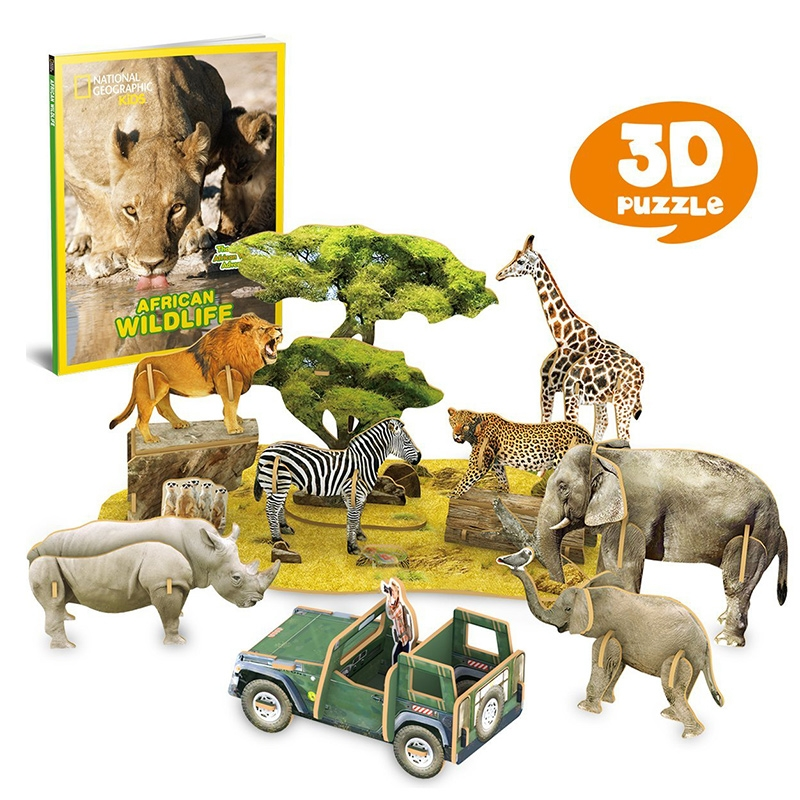 Alternate National Geographic African Wildlife 3D Puzzle image 1