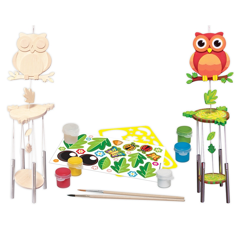 Paint Your Own Owl Wind Chime Kit