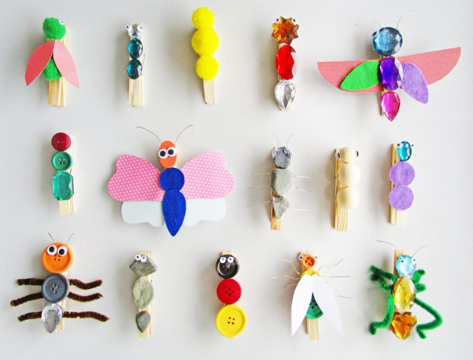insect crafts with buttons