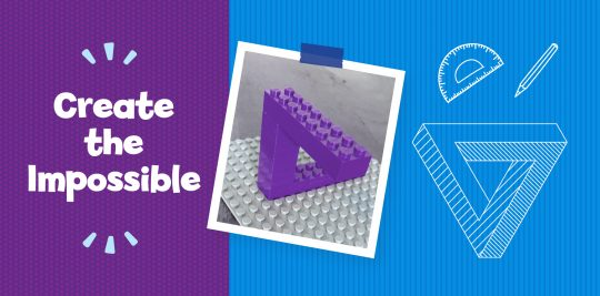 Build and Draw an Impossible Triangle - Activity for Kids
