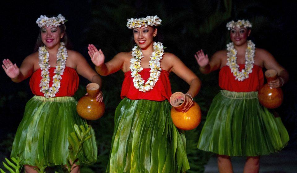 Three Hula Dancers