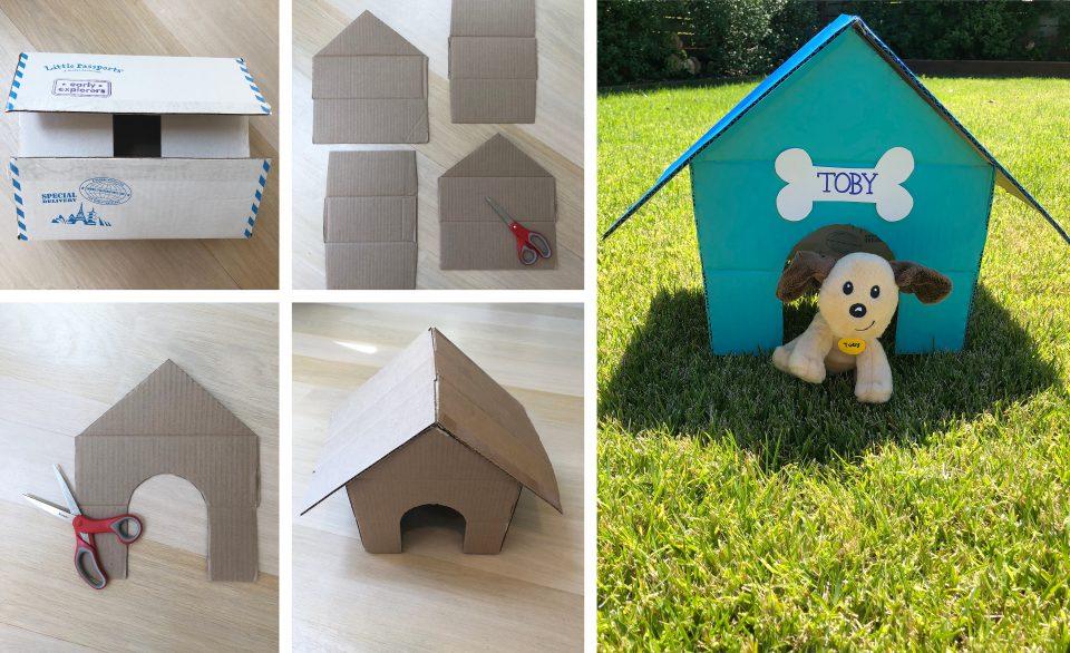 DIY cardboard dog house