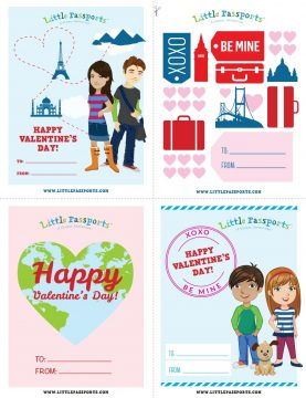 Celebrate Valentine's Day with these adorable cards from Little Passports