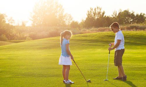 Play putt putt golf during your Little Passports summer games