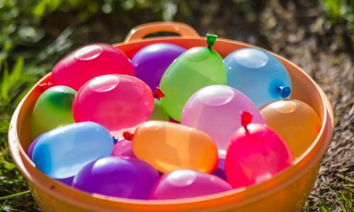 Play water balloon volleyball during your Little Passports summer games