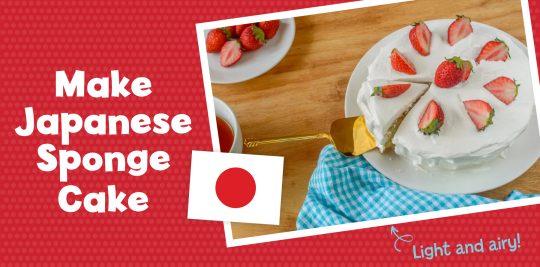 Make a Japanese sponge cake with Little Passports