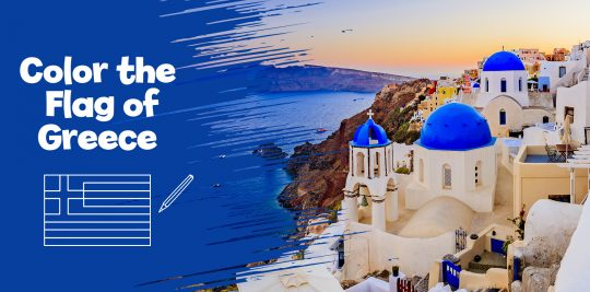 Create your own Greece flag with Little Passports