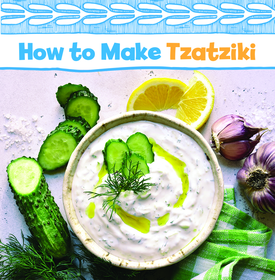Make greek tzatziki with this recipe from Little Passports