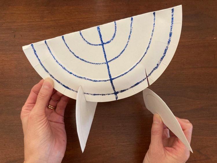 DIY menorah craft from Little Passports step 11