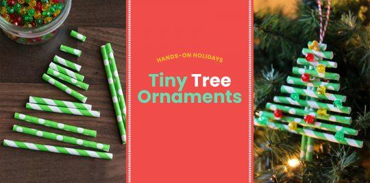 Tiny Tree Ornaments Christmas Craft