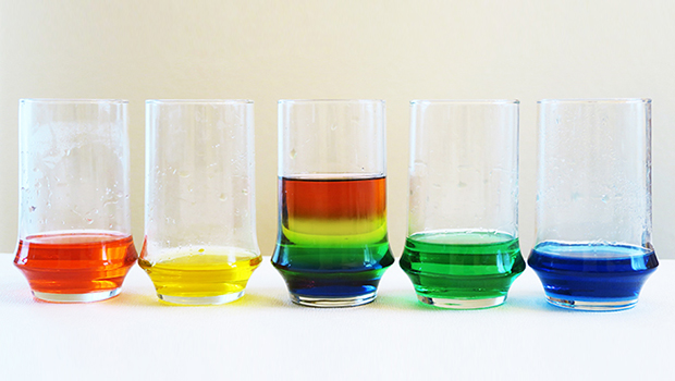 Rainbow Density Experiment