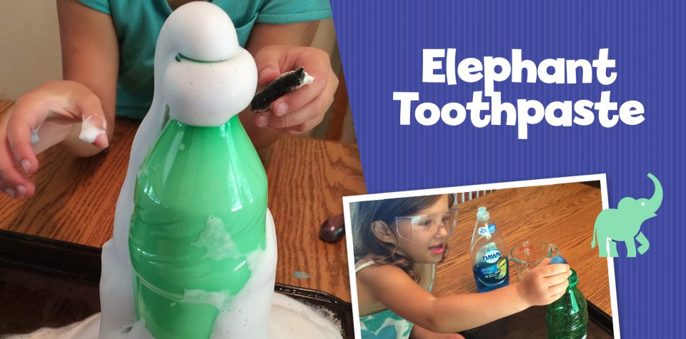 Elephant Toothpaste Science Experiment for Kids