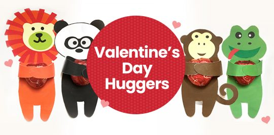 Valentines Day Chocolate Candy Huggers Printable