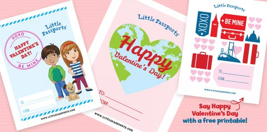 Printable Valentines from Little Passports