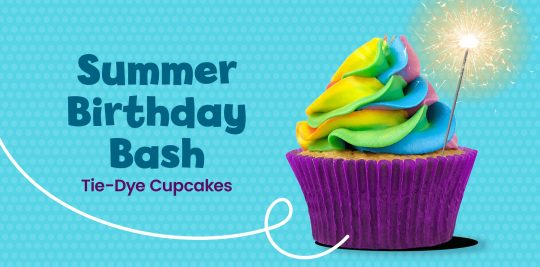 Make tie-dye cupcakes with this recipe from Little Passports