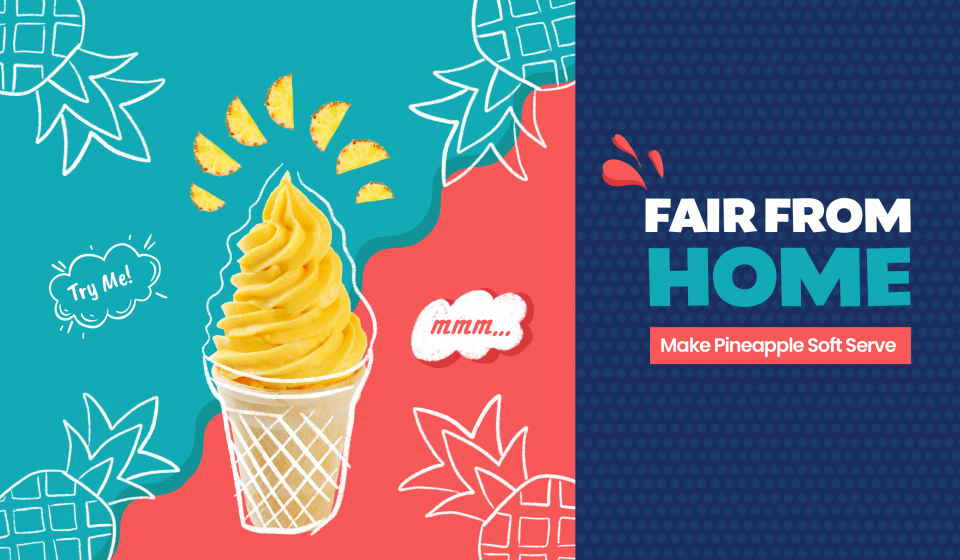 Make yummy pineapple soft serve with this recipe from Little Passports