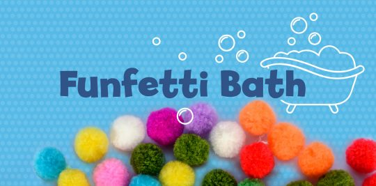 Have an afternoon of sensory play with this rainbow pom pom bath activity from Little Passports
