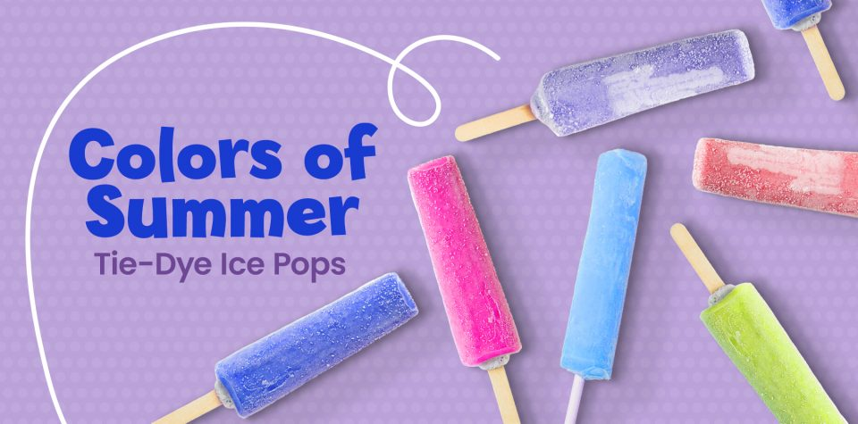 Make tie-dye ice pops with this recipe from Little Passports