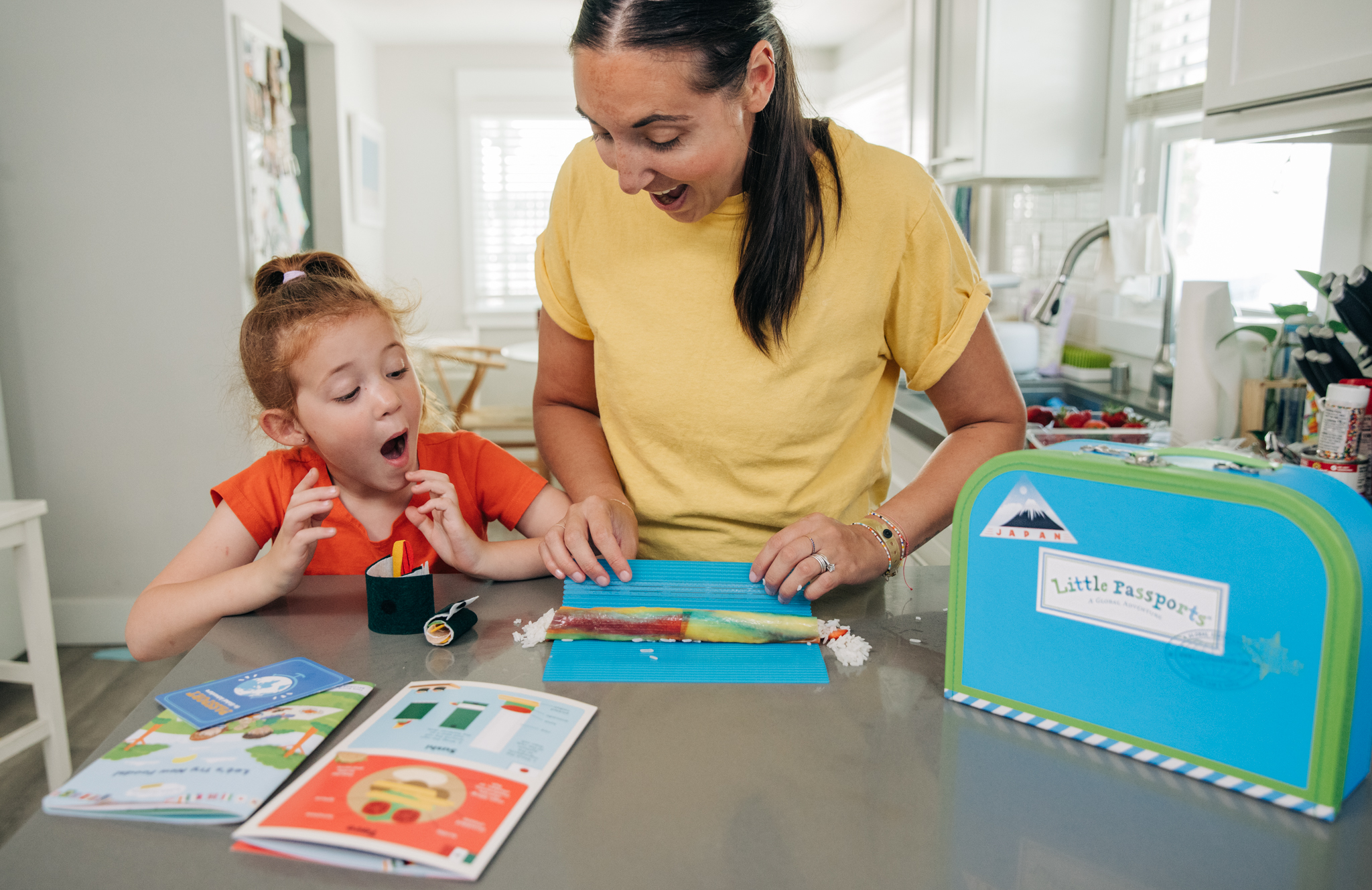 Make fruit sushi with this recipe from Baby Boy Bakery and Little Passports