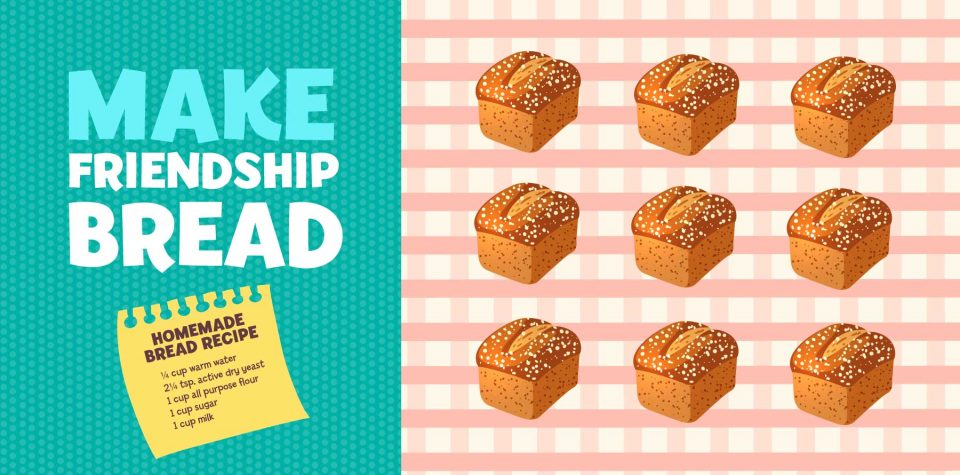 Make friendship bread with this recipe from Little Passports