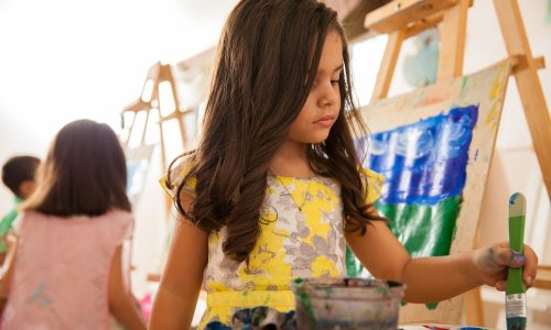 Have a painting party with Little Passports