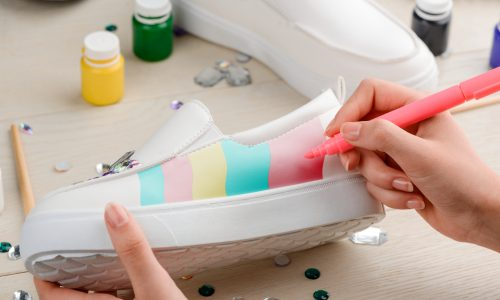 Make customized painted shoes with this craft from Little Passports