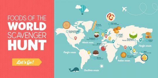 world tourism day food scavenger hunt